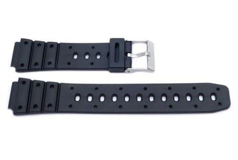 Black Casio Style 17mm Watch Band P3037