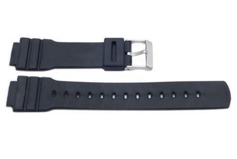 Black Casio Style 16mm Watch Band P3040