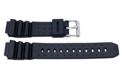 Black Casio Style 16mm Watch Strap P3041