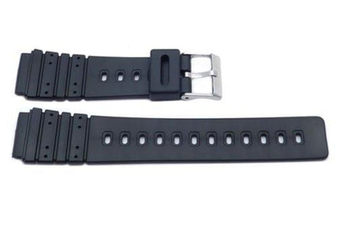 Black Casio Style 20mm Watch Band P3043