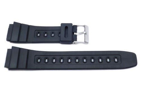 Black Casio Style 20mm Watch Band P3045