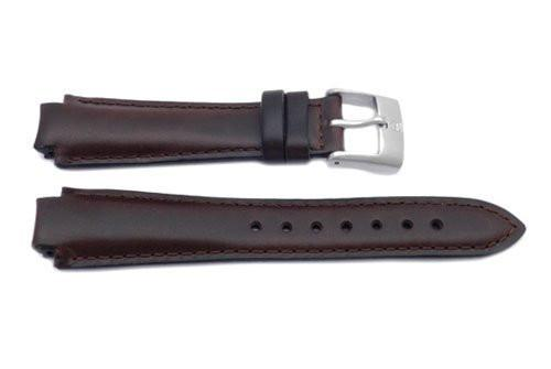 Swiss Army Brown Leather 13mm Peak Watch Band