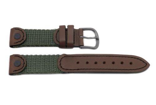 Swiss Army Light Brown and Olive 16mm Watch Strap