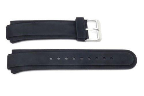 Swiss Army Black Rubber Peak II 23/15mm Watch Strap