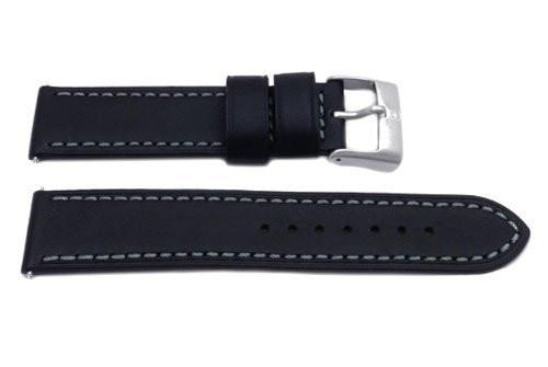 Swiss Army Black Leather Ambassador Watch Strap