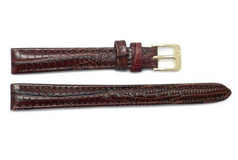 Seiko Brown Leather Lizard Grain Watch Strap