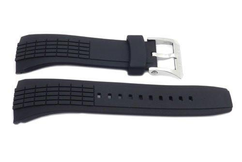 Seiko Black Rubber Velatura Watch Strap