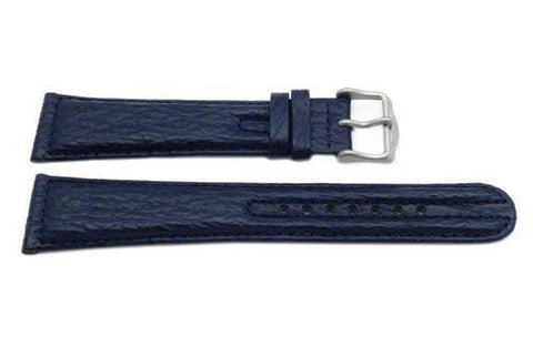 Genuine Citizen Blue Sharkskin Leather 22mm Long Watch Band