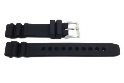 Citizen Black Rubber Plain 15mm Watch Band