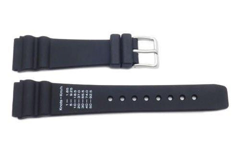 Citizen Black Rubber Navisurf 20mm Watch Band