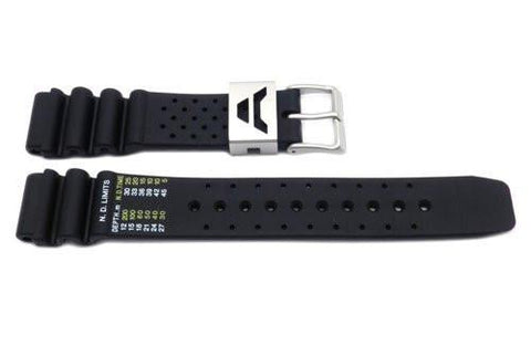 Citizen Black Rubber Aqualand 19mm Watch Band