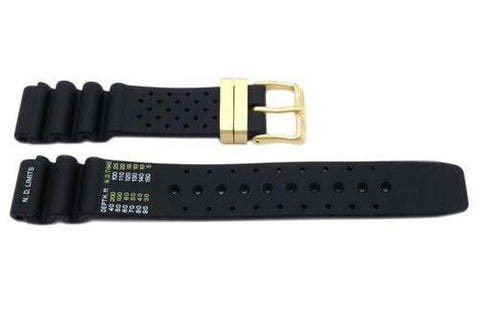 Citizen Black Rubber Aqualand 19mm Watch Strap