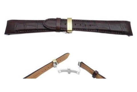 Citizen Brown Leather Alligator Grain Watch Strap