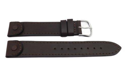 Swiss Army Brown Leather Men's Cavalry Watch Band