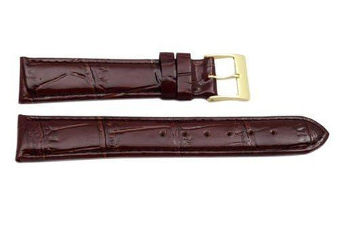 Alligator Grain Genuine Leather Glossy Watch Band