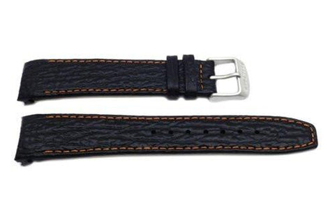 Genuine Citizen 21mm Black Sharkskin Grain Leather Watch Strap