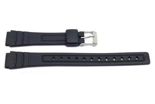 Black Resin Casio Style 12mm Watch Band