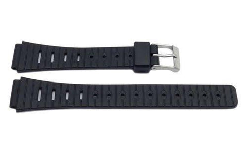Black Resin Casio Style 14mm B-Y002 Watch Strap