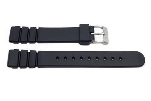 Black Resin Casio Style 14mm B-Y003 Watch Band