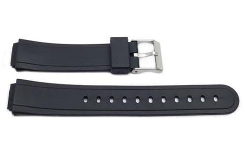 Black Resin Casio Style 15mm B-Y004 Watch Strap