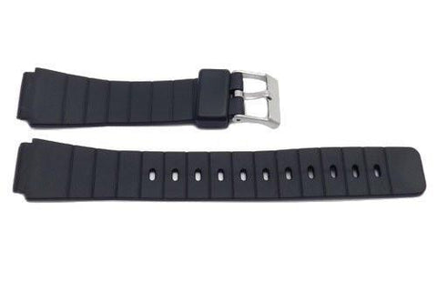 Black Resin Casio Style 16mm B-Y005 Watch Band