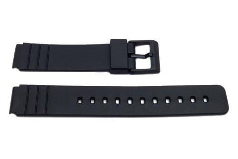 Black Resin Casio Style 16mm B-Y006 Watch Strap