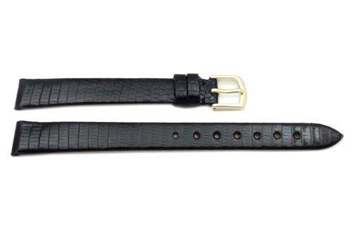 Hadley Roma Black Genuine Java Lizard Watch Strap