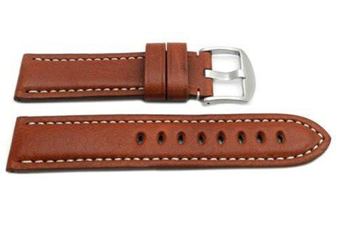 Hadley Roma Tan Genuine Vegetable Tanned Leather Panerai Style Watch Strap