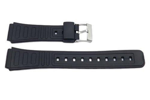 Black Resin Casio Style 18mm B-Y008 Watch Strap