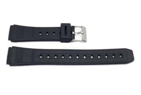 Black Resin Casio Style 18mm B-Y009 Watch Band