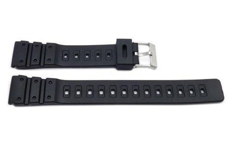Black Resin Casio Style B-Y011 Watch Strap