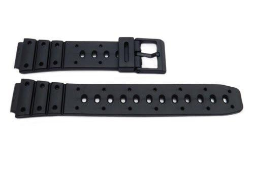 Black Resin Casio Style B-Y013 Watch Band