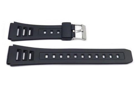 Black Resin Casio Style B-Y014 Watch Strap