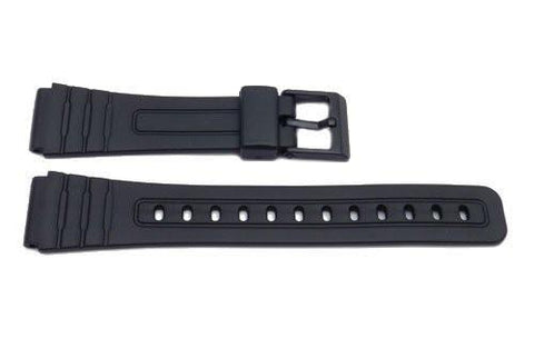 Black Resin Casio Style B-Y015 18mm Watch Band