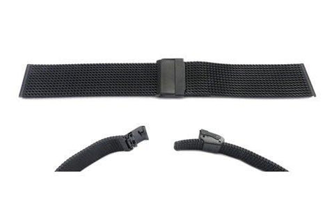 Hadley Roma Black Mesh Design Watch Strap