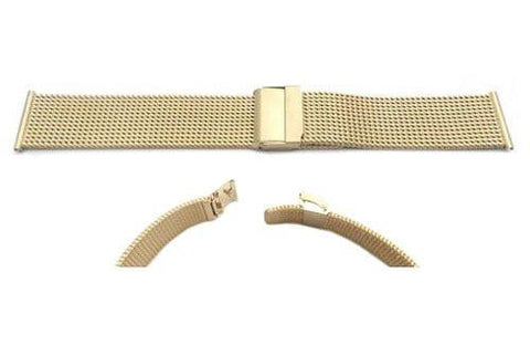 Hadley Roma Gold Tone Mesh Style Watch Strap