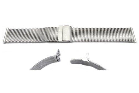Hadley Roma Stainless Steel Thick Mesh Watch Bracelet