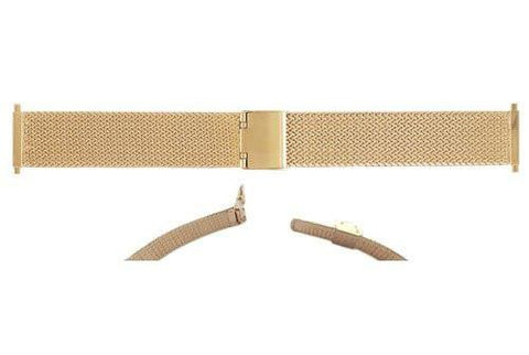Hadley Roma Mens Gold Tone Mesh Style Watch Bracelet