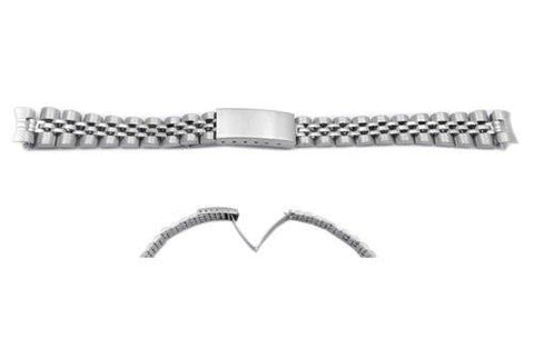 Hadley Roma Ladies Silver Tone Stainless Steel Watch Bracelet