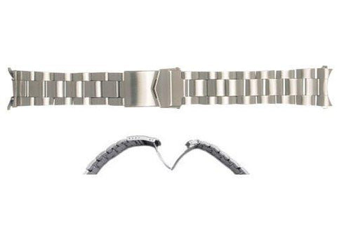 Hadley Roma Brushed Finish Stainless Steel Rolex Oyster Style Watch Bracelet