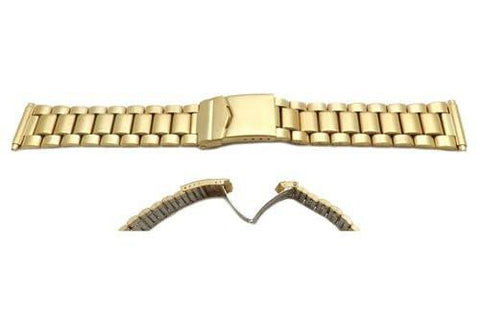 Genuine Hadley Roma Mens Style Gold Tone Watch Bracelet
