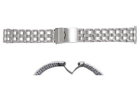Hadley Roma Mens Stainless Steel Link Design Watch Bracelet