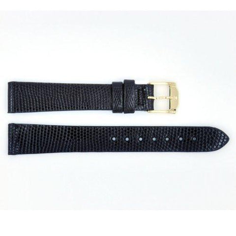 Genuine Lizard Movado 15mm Black Watch Strap