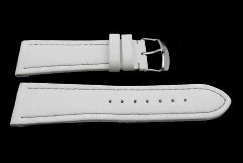 Hadley Roma Genuine Lorica White Invicta Style Waterproof Watch Strap