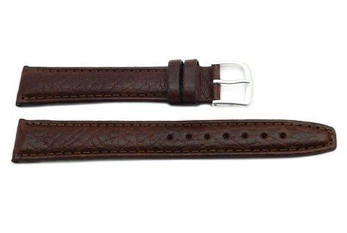 Hadley Roma Long Brown Mens Water Resistant Genuine Leather Watch Band