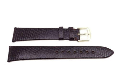 Hadley Roma Brown Mens Genuine Java Lizard Watch Band