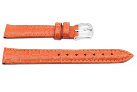 Hadley Roma Orange Ladies Crocodile Grain Watch Strap