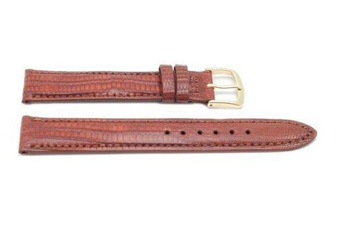Hadley Roma Tan Genuine Teju Lizard Hypo Allergenic Watch Band