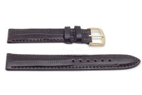 Hadley Roma Brown Genuine Teju Lizard Hypo Allergenic Watch Band