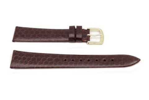 Hadley Roma Brown Mens Genuine Snake Watch Band